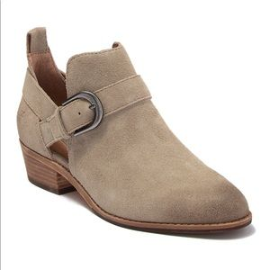 🆕FRYE Mia Cutout Bootie Taupe Leather Ankle